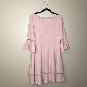 Eliza J Fit & Flare Blush Pink Dress with Pockets